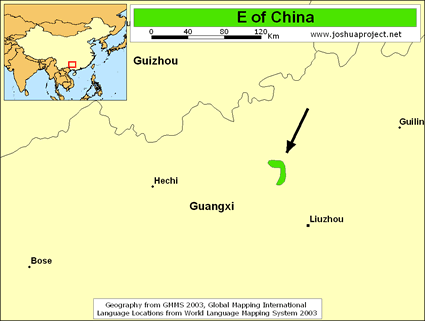 Map of E in China