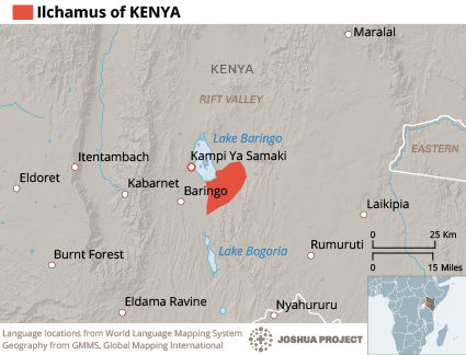 Map of Ilchamus in Kenya