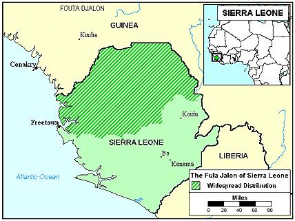 Fula Jalon In Sierra Leone Joshua Project - Sierra leone map