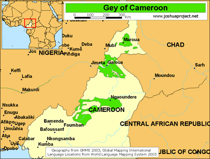 Map of Fulbe-Gey in Cameroon