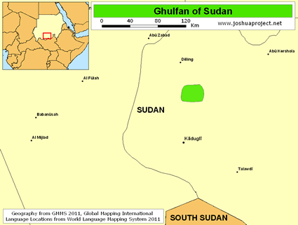 Map of Uncu, Ghulfan in Sudan