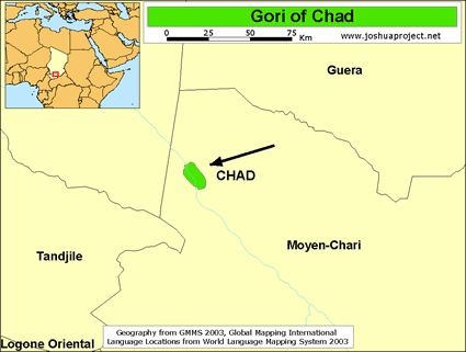 Map of Gori in Chad