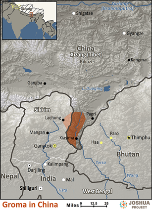 Map of Groma in China