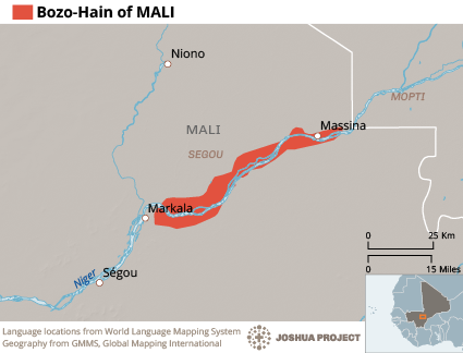 Map of Bozo, Kelenga in Mali