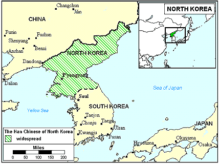 Han Chinese, Mandarin in Korea, North