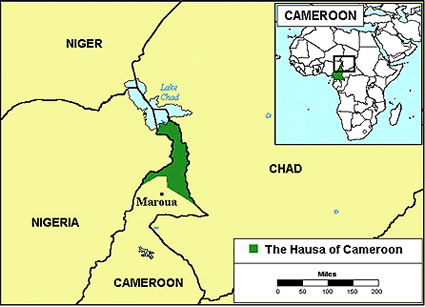 Hausa in cameroon joshua project hausa in cameroon map ccuart Choice Image