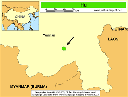 Map of Hu in China