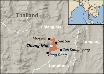 Map of Hui in Thailand