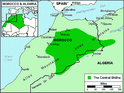Algeria Location On World Map.Berber Imazighen In Algeria Joshua Project