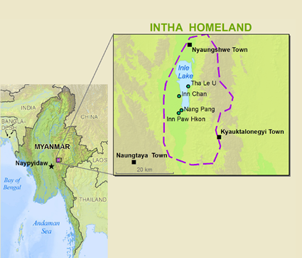 Map of Intha in Myanmar (Burma)