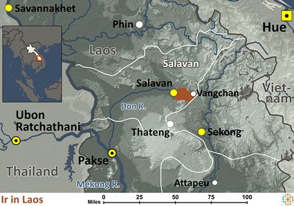 Map of Ir in Laos