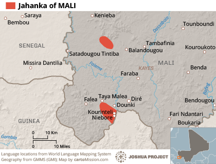 Map of Jahanka in Mali
