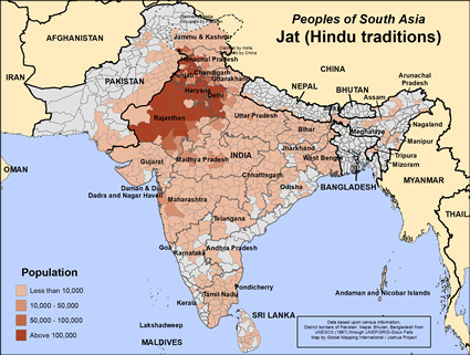 Jat unspecified (Hindu traditions) in India