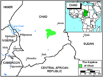 Kajakse in Chad
