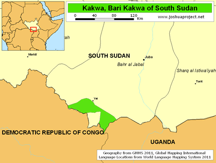Kakwa, Bari Kakwa in South Sudan