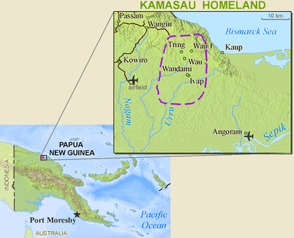 Kamasau, Wand Tan in Papua New Guinea