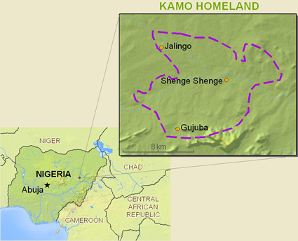 Map of Kamo in Nigeria