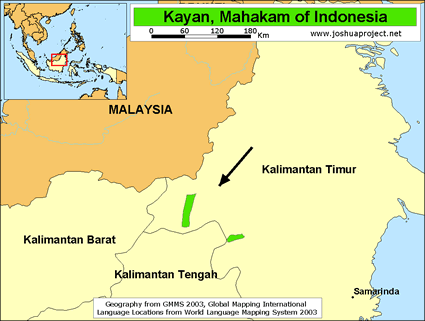 Kayan, Mahakam in Indonesia