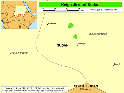 Map of Keiga Jirru in Sudan