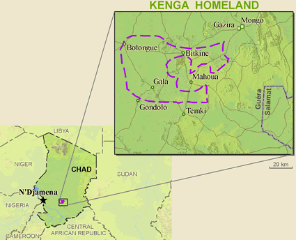 Map of Kenga in Chad
