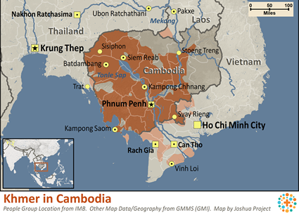 Khmer Empire Map Khmer Central in Cambodia Map