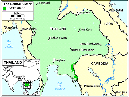 Khmer, Central in Thailand