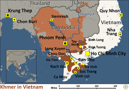 Mien Tay Vietnam Map.Khmer In Vietnam Joshua Project
