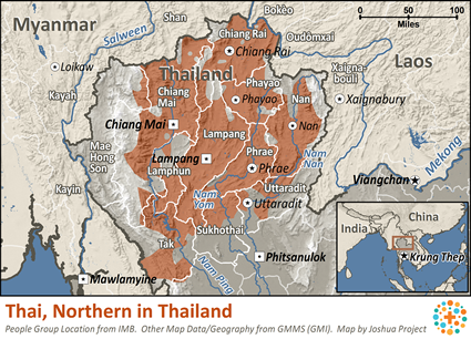 Lampang Thailand Map.Thai Northern In Thailand Joshua Project