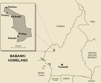 Map of Babanki in Cameroon