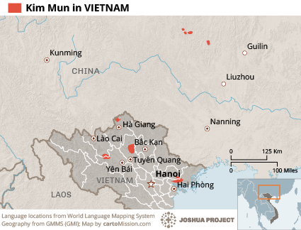 Map of Kim Mun in Vietnam