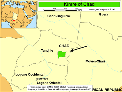 Kimre in chad joshua project map source joshua project global mapping international gumiabroncs Images