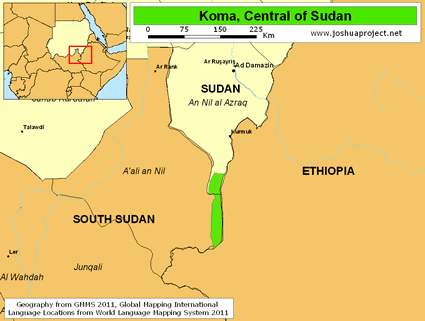 Koma, Central in Sudan