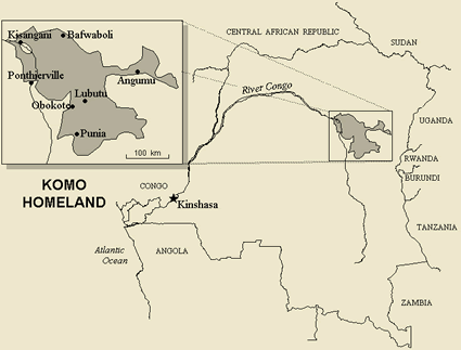 Kumu, Komo in Congo, Democratic Republic of