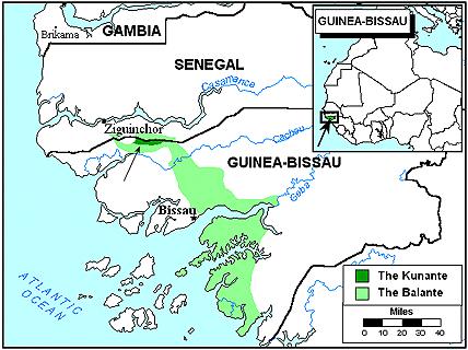 Maswanka Kunante In GuineaBissau Joshua Project - Guinea bissau map