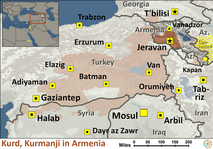 Kurd, Kurmanji in Armenia