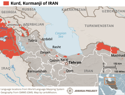 Kurd, Kurmanji in Iran