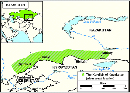 Kurd, Kurmanji in Kazakhstan