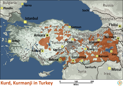 Kurd kurmanji in turkey joshua project kurd kurmanji in turkey map source joshua project global mapping international sciox Image collections