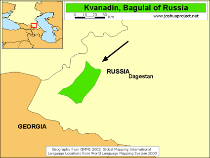 Map of Bagulal in Russia