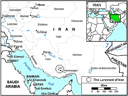 Larestani, Lari in Iran