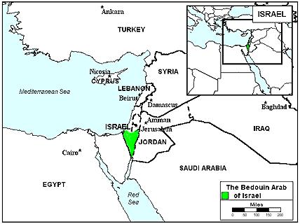 Bedouin Eastern Bedawi In Israel Joshua Project - Negev desert map