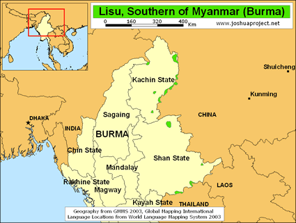 Lisu In Myanmar Burma Joshua Project - Burma in world map