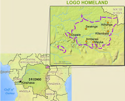 Map of Logo, Logo Kuli in Congo, Democratic Republic of