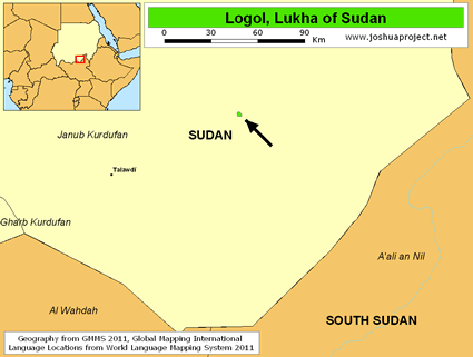 Map of Logol, Lukha in Sudan