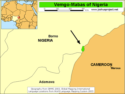 Map of Vemgo-Mabas, Visik in Nigeria