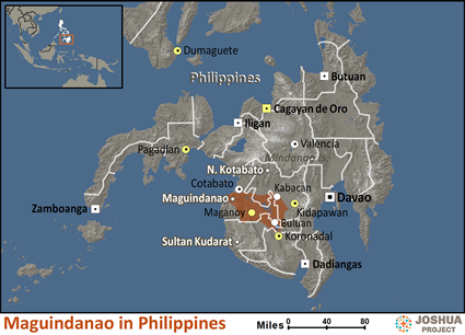 Map of Maguindanao in Philippines