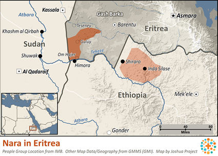 Nara, Nialetic in Eritrea