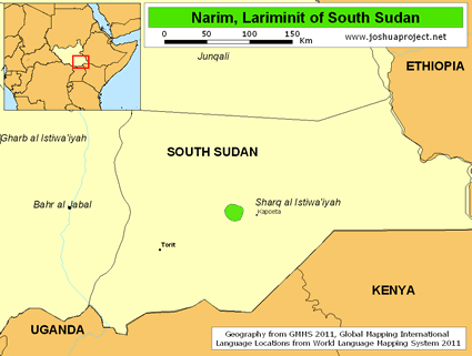 Narim, Lariminit in South Sudan