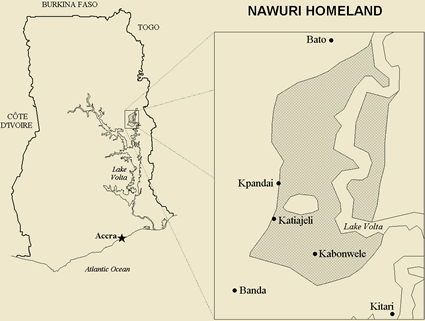 Map of Nawuri in Ghana