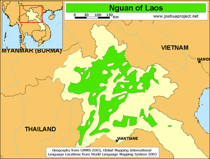 Nguan in laos joshua project map source joshua project global mapping international gumiabroncs